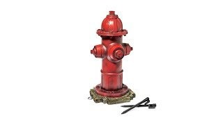 Dog Fire Hydrant Garden Statue with 2 Stakes
