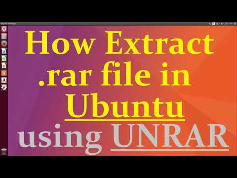 How to Extract rar file in Ubuntu - YouTube