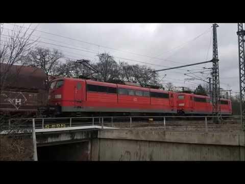 Train activity around Frankfurt(M) airport