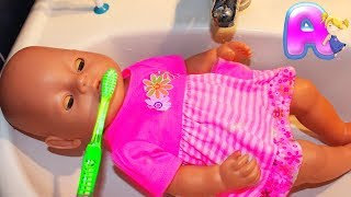 Anna and Baby born doll Brush your teeth by Anna Kids
