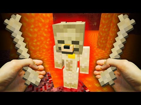 REALISTIC MINECRAFT - STEVE'S DOG GOES TO HELL!😈