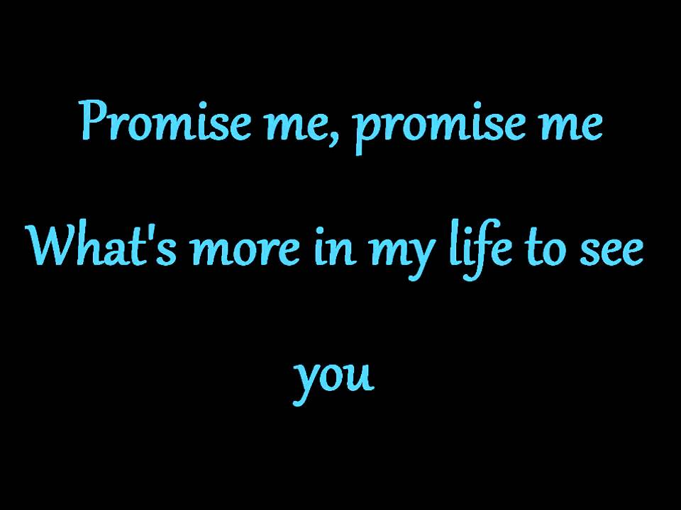 Lyric lyrics promise : Dead By April ~ Promise Me ♥ (Lyrics) - YouTube