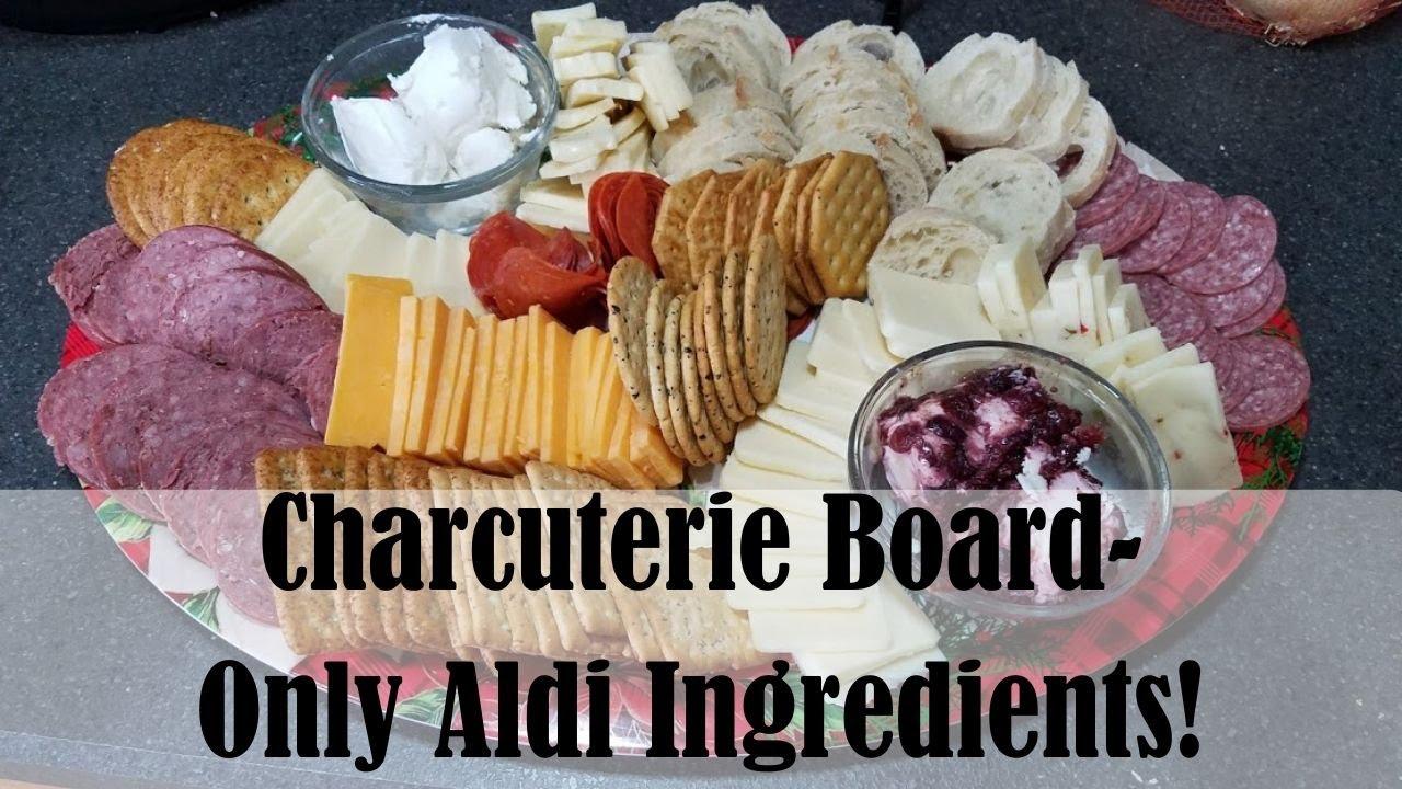 Fancy Charcuterie Board || ONLY ALDI INGREDIENTS!