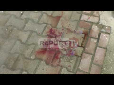 Report TV - Pamje nga lokali në Vlorë ku ndodhi vrasja për hakmarrje