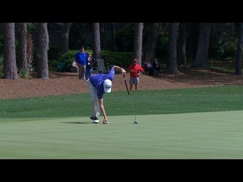 Simpson's ball blown by wind on No. 6 in Round 4 of RBC Heritage