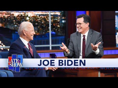 """Colbert Questions Biden About Being a """"Gaffe Machine"""""""