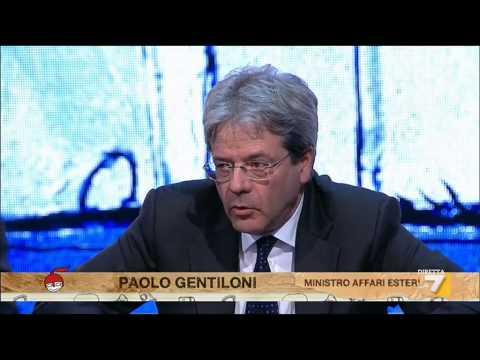 L'intervista al Ministro degli Esteri Paolo Gentiloni
