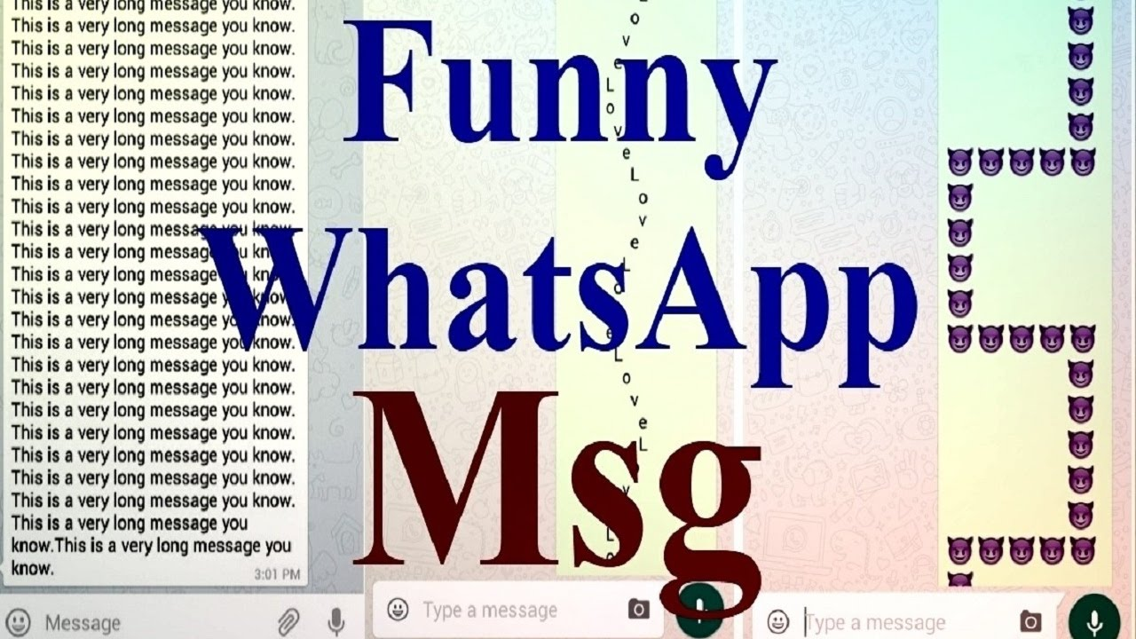 How To Make Long Msg (Funny ) For WhatsApp Step By Step Hindi
