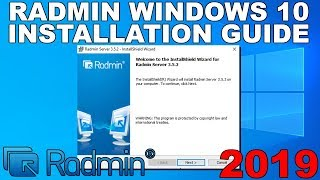 how to Install Radmin Server and Viewer and How to Connect 2019 Guide