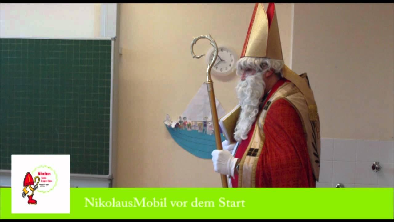 Nikolaus komm in unser Haus NikolausMobil vor dem Start