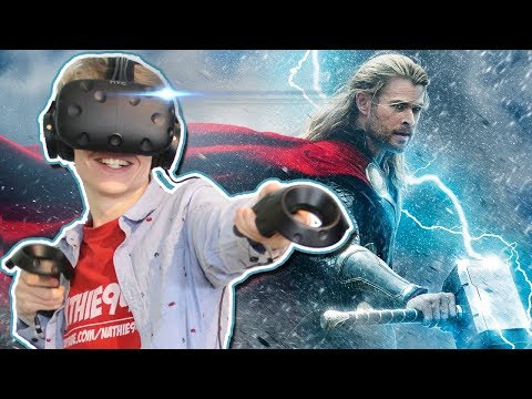 BECOME THOR IN VIRTUAL REALITY!   VRobot VR (HTC Vive Gameplay)