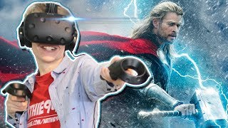 BECOME THOR IN VIRTUAL REALITY! | VRobot VR (HTC Vive Gameplay)
