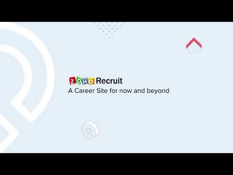 Setting up your career site - Zoho Recruit