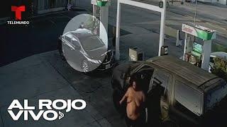 Arrestan a hombre de 400 libras que golpeó brutalmente a una mujer en una gasolinera