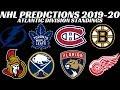 NHL Predictions 2019-20 Atlantic Division Standings