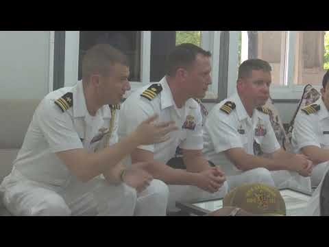 Officers of US Navy ships meet Commander Southern Naval Area