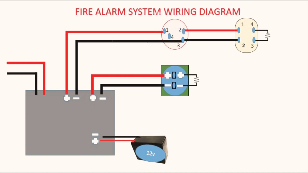 smoke detector wire diagram conventional smoke detector wiring diagram youtube  smoke detector wiring diagram