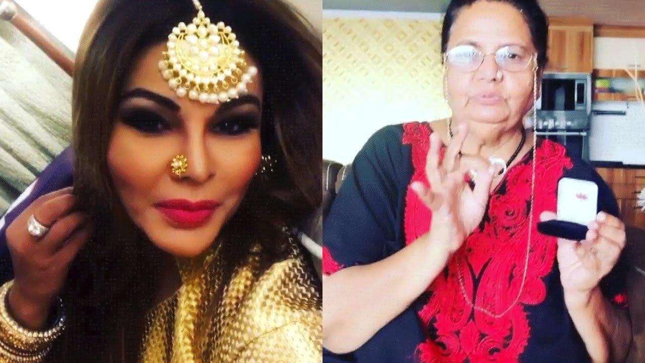 Rakhi Sawant's Mother's Day Video 2018, Gifts Diamond Ring - YouTube
