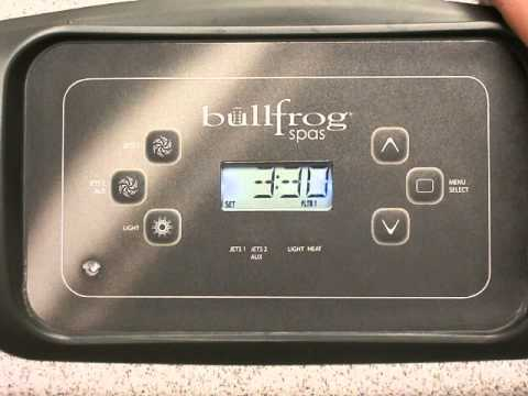 How to program 'Filter 1' and 'Filter 2' on your Bullfrog spa R series.