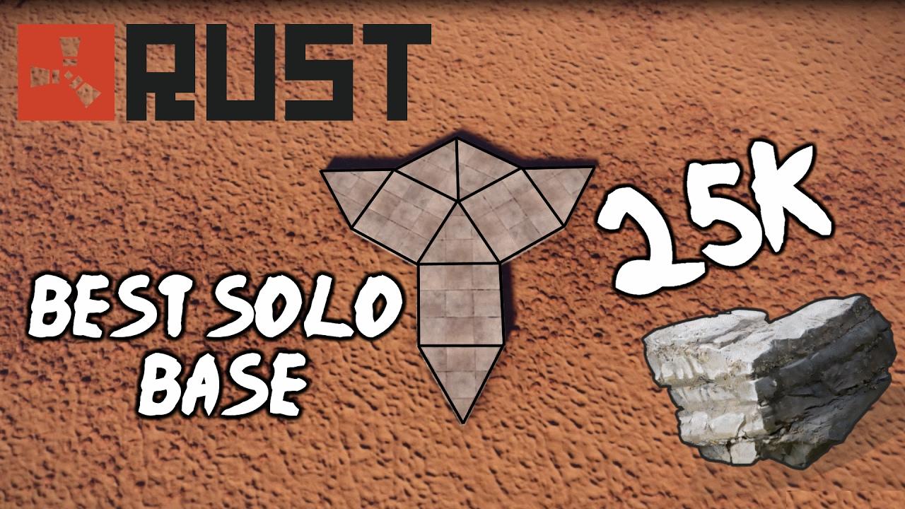 Strong Solo Base Ideas Rust 2020 RUST BEST SOLO BASE DESIGN (High Pop Vanilla) 25K STONE   YouTube