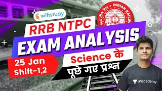 Science Questions Asked in RRB NTPC 25th Jan 2021 Exam | GS Questions by Neeraj Jangid