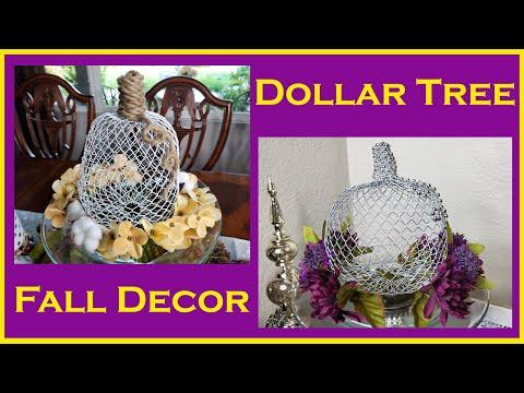 Dollar Tree DIY Farmhouse and Glam Wire Mesh Pumpkin - Fall Decor DIY