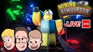 ROBLOX MINING SIMULATOR LIVE STREAM | Kid Friendly Lets Play