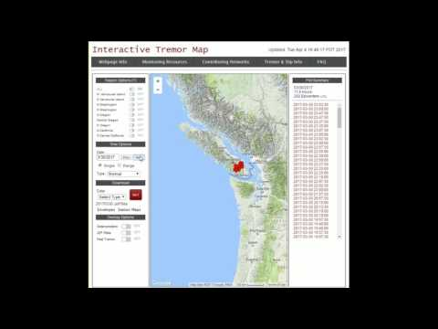Northwest Earthquake swarm from Seattle to Victoria to Vanco