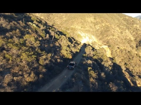 Fun Driving Down On Holy Jim Trail, California - Drone/Quad-copter Footage