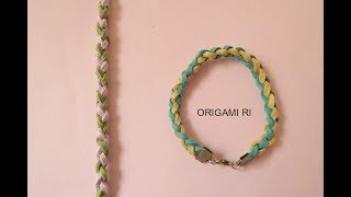 DIY Bracelets 手繩教學 - Round braid 圓身 (皮繩) #2