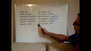 Free Spanish Lessons 153 - Spanish conjugations: amar (to love) - Video 3/3
