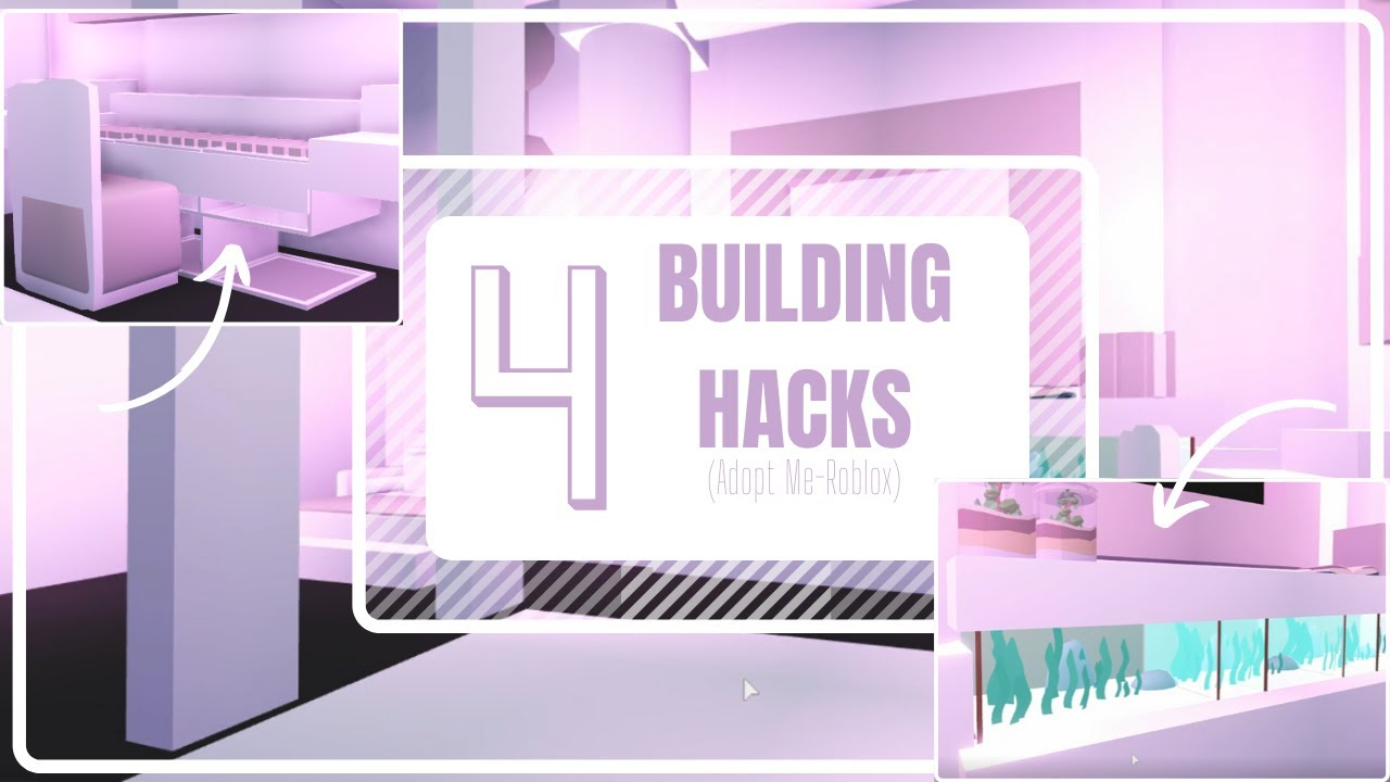 ||🥑 4 REALLY easy BUILDING HACKS 🥑|| Adopt Me (ROBLOX) + Bedroom Tour