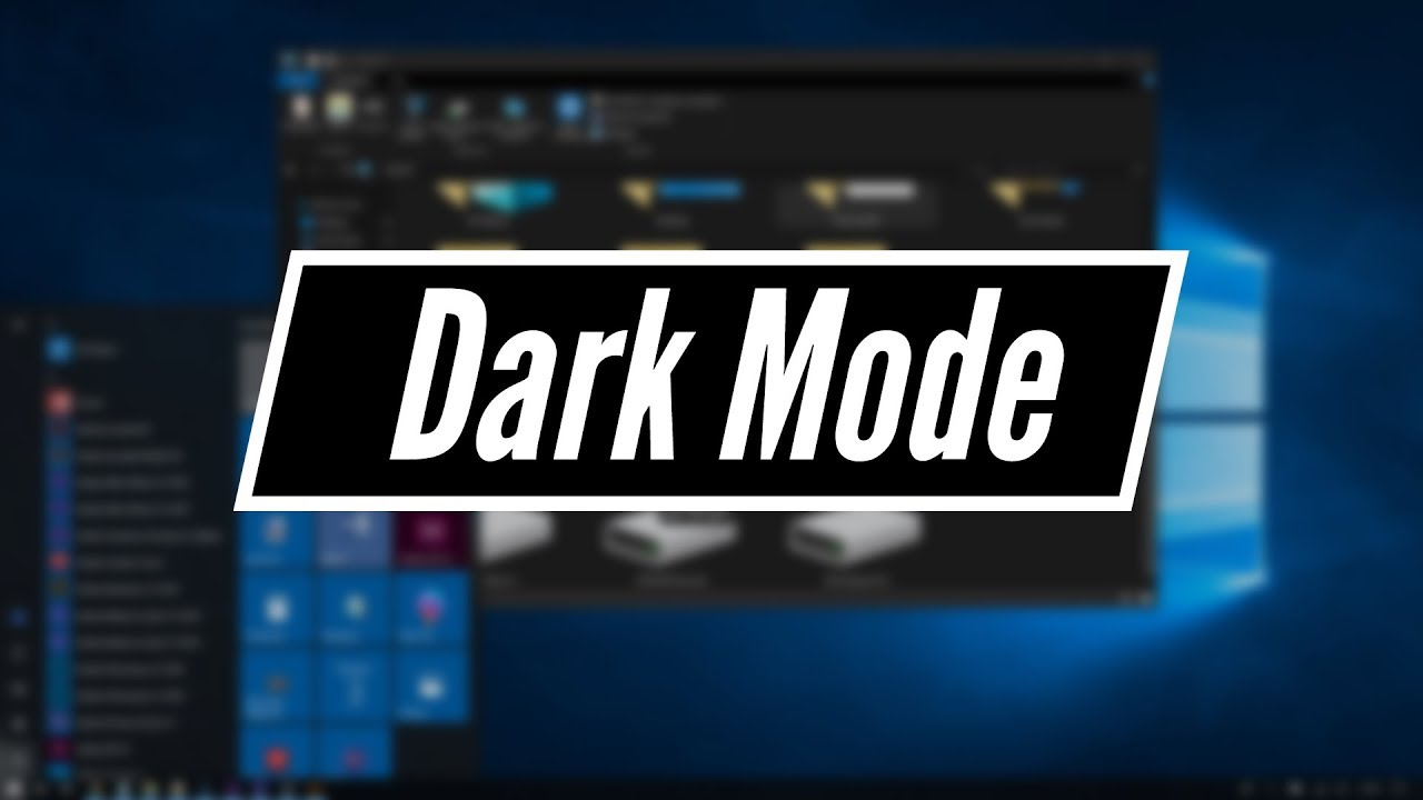 windows 10 - enable dark mode for file explorer
