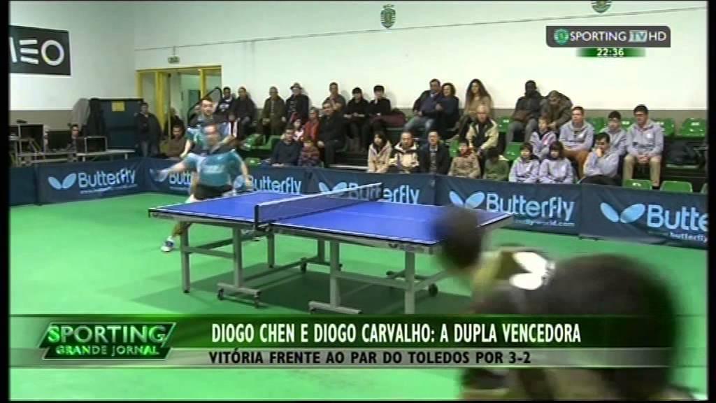 Ténis de Mesa :: Diogo Chen e Diogo Carvalho Campeões Nacionais em Pares em 2014/2015