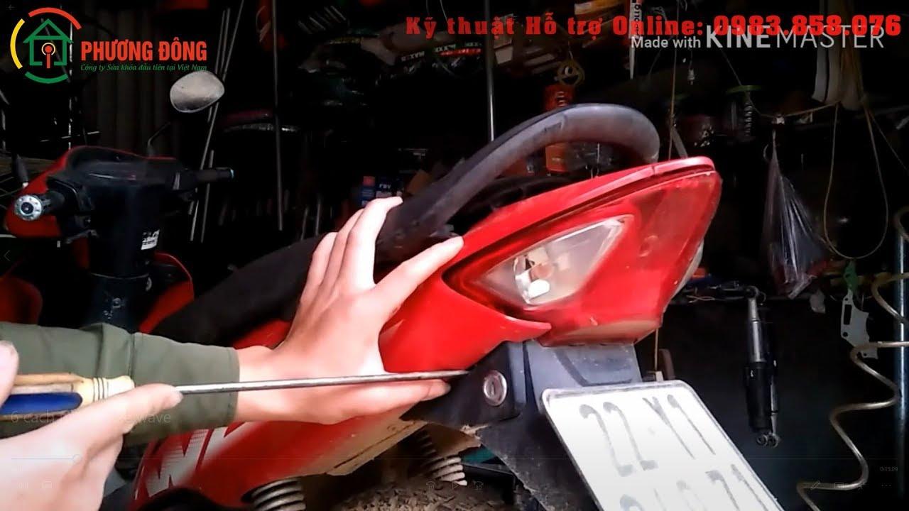 Top 6 Cách mở cốp xe Wave Alpha RSX RS SX Thành Công 100%