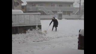 2014年の大雪 自宅前で.
