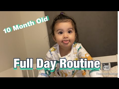 Baby Daily Routine || 10 Month Old Baby Aashvi's Morning to Night Routine