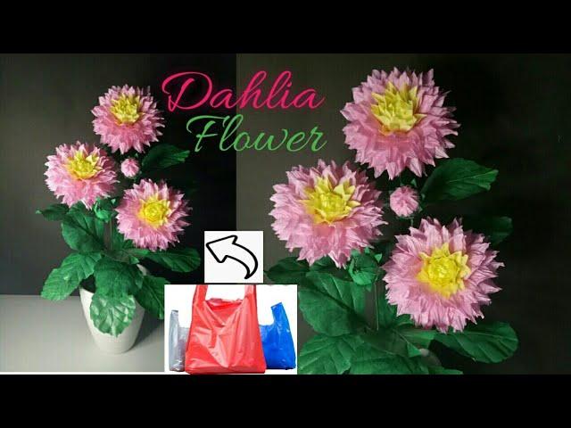 Bunga Dahlia Dari Plastik Kresek Tutorial Youtube