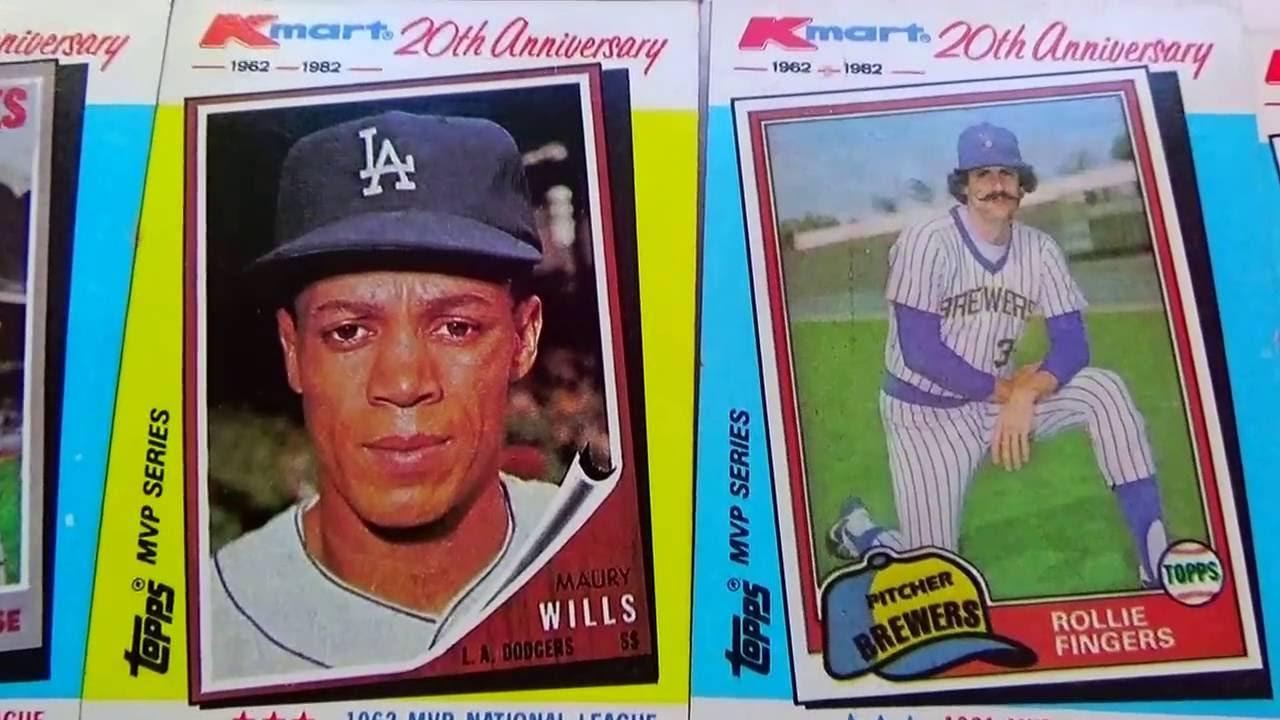 1962 1982 Kmart Topps Baseball Cards