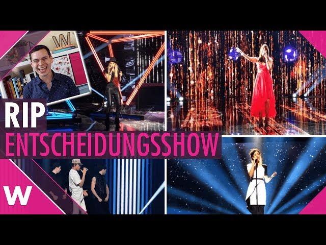 Switzerland Eurovision 2019:  No more Die Entscheidungsshow
