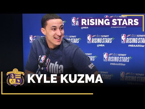 NBA All-Stars 2018: Kyle Kuzma Speaks To The Media Before First Rising Stars Game (Full Interview)