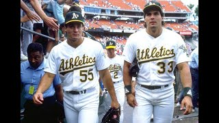 Jose and Ozzie Canseco 1990 A