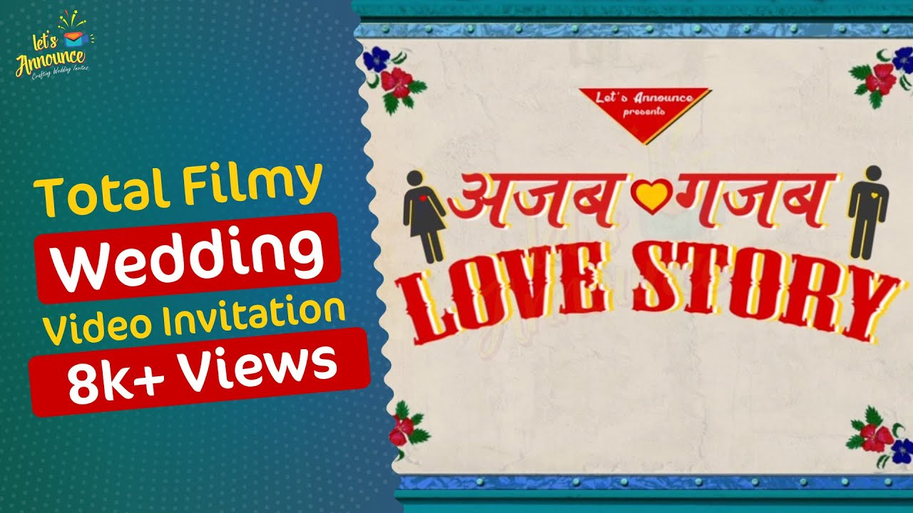 Best Indian Bollywood Wedding Invitation by Let\'s Announce - YouTube