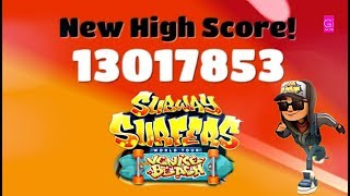 Subway Surfers New High Score - 13017853 - World Tour - Venice Beach - Games In
