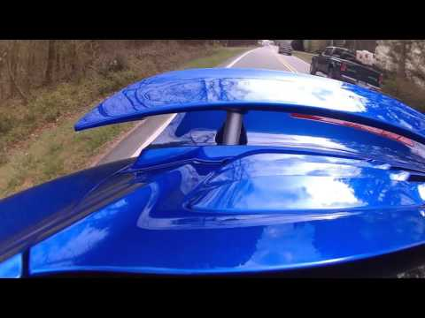 Porsche 911 Turbo S (991) Rear Spoiler in action