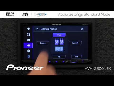 How To - Audio Settings Standard Mode On Pioneer AVH-EX In Dash Receivers 2018