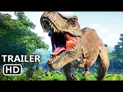 JURASSIC WORLD EVOLUTION Official Trailer (2018) Dinosaur Video Game HD