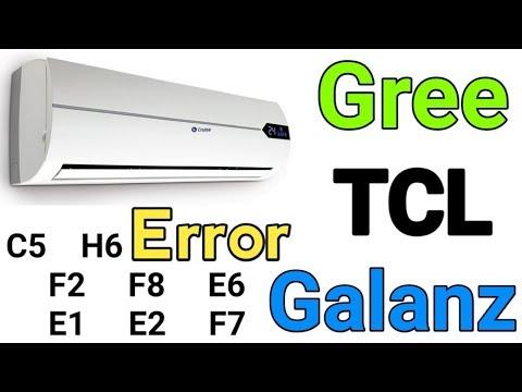 Air conditioner Gree TCL Galanz Errors H6,C5,F1,F2,E1,E2,E6 Troubleshooting