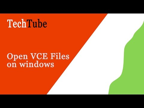 How To Open VCE Files On Windows