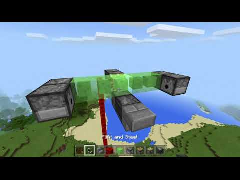 How To Make An Automatic Bomber Plane In Minecraft